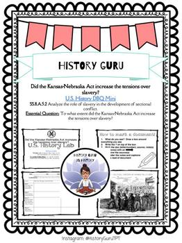 US History Lab- Kansas-Nebraska Act and Slavery- SS.8.A.5.2