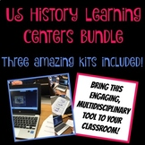 US History Learning Centers Bundle