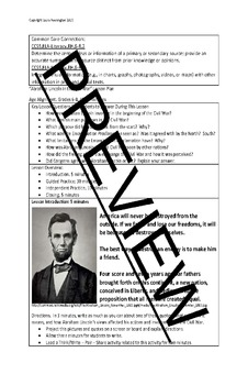 US History Lesson Plan: Abraham Lincoln in the Civil War