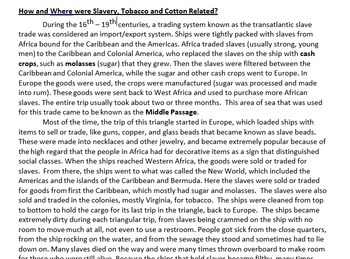 US History Lesson Plan: Slavery and the Triangle Trade