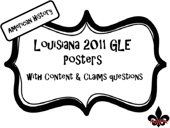 US History Louisiana GLE Posters Black and White