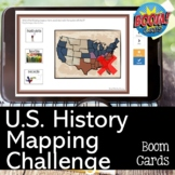 US History Mapping Challenge with BOOM CARDS for the US Hi