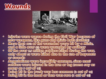 Medical Practices in the Civil War PowerPoint Presentation (U.S. History)