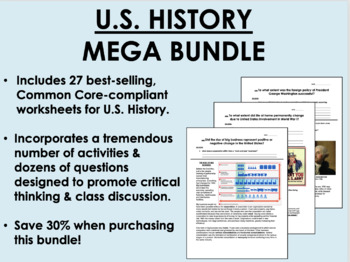 US History Mega Bundle - Common Core