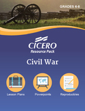 US History Middle School Civil War Resource Pack