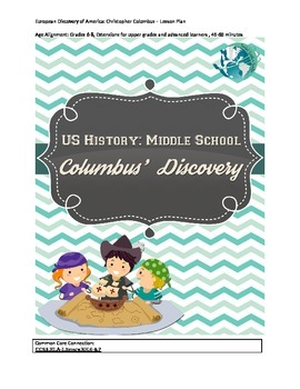 US History Middle School Lesson Plan: Columbus' Discovery