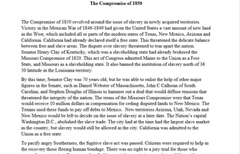 US History Lesson Plan: Missouri Compromise