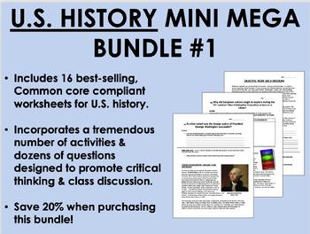 US History Mini Mega Bundle #1 - Common Core