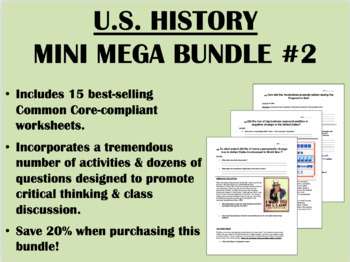 US History Mini Mega Bundle #2 - Common Core