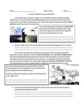 US History: Modern Day Issues