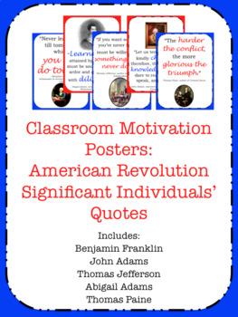 US History Motivation Posters (Classroom Decor)- Revolution
