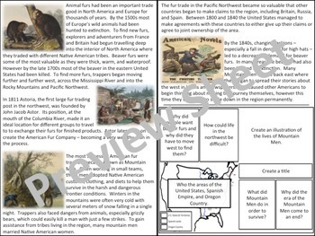 U.S. History - Western Expansion - Mountain Men