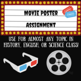 Movie poster assignment- Great for most subjects!