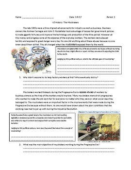 US History: Muckrakers