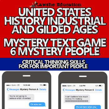 US History Mystery Person Fake Text Game