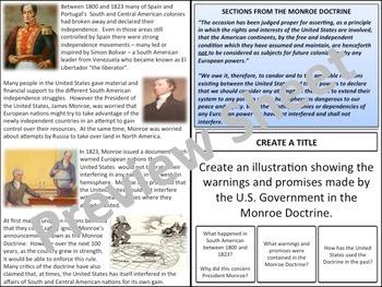 U.S. History - Nationalism - The Monroe Doctrine
