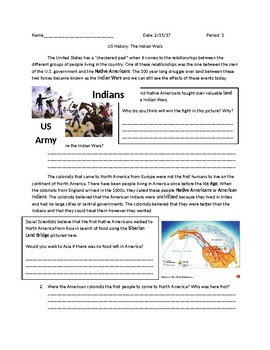 US History: Native American Indian Wars