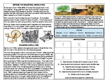 US History - Origins of the Industrial Revolution Homework