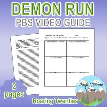Demon Run (PBS) Episode Original Video Guide Questions & Essay Writing