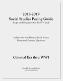 Pacing Guide for US History / Social Studies - Scope and Sequence