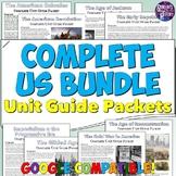 US History Packet & Unit Study Guide Bundle