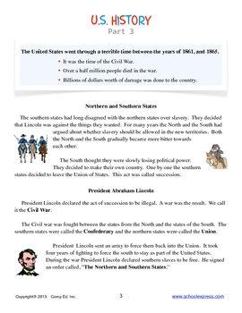 U.S. History Part 3 Thematic Unit
