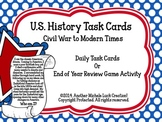 U.S. History People Task Cards Civil War to Modern Times