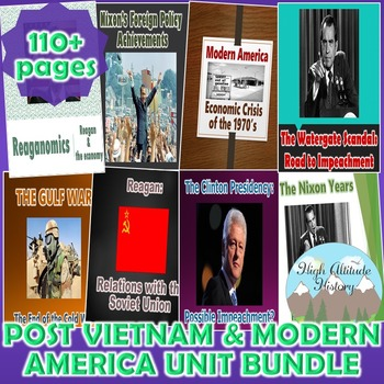 Post Vietnam & Modern America Unit (U.S. History) *Unit Bundle*