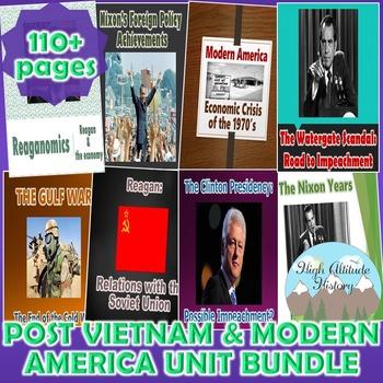 Post Vietnam & Modern America Unit (U.S. History) *Unit Bundle*