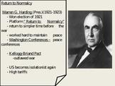 US History Post World War I Politics Return to Normalcy