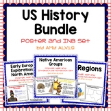 US History Poster and INB Set Bundle Early America to 1800