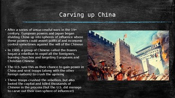 US History PowerPoint: The United States Looks Overseas (Chapter 20)