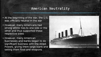 US History PowerPoint: World War I (Chapter 21)