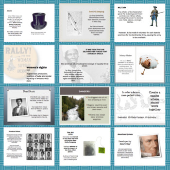 US History: PowerPoints and Note Organizers