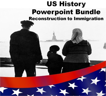 US History Powerpoint Bundle: Reconstruction to Immigration