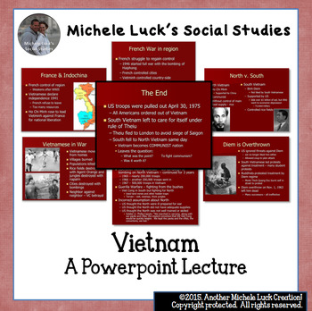 U.S. History Powerpoint Lecture Notes on Vietnam