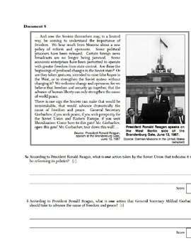 US History - Primary & Secondary Sources - Presidents Reagan & George H.W. Bush