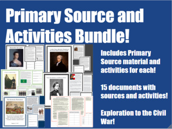 US History Primary Sources & Activities Bundle for Middle