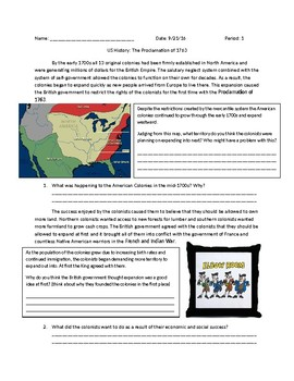 US History: Proclamation of 1763