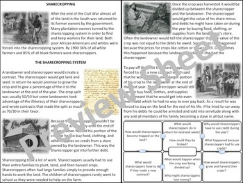 Sharecropping - Homework Packet