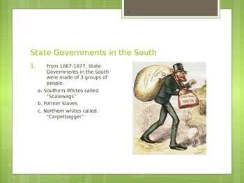 US History: Reconstruction  & The Wild West Power Point
