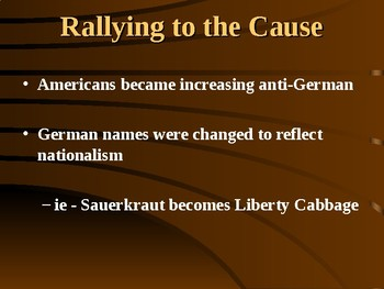 World War 1 & The American Home-front PowerPoint (U.S. History)