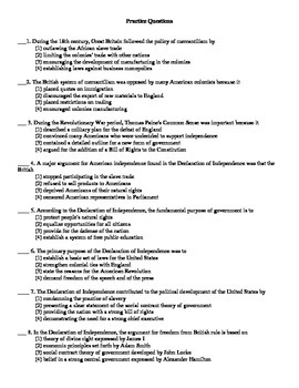 US History Regents Review / Prep - Founding Documents