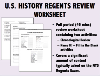 us history regents review worksheet by epic history worksheets tpt rh teacherspayteachers com us history regents study guide pdf us history regents study guide pdf