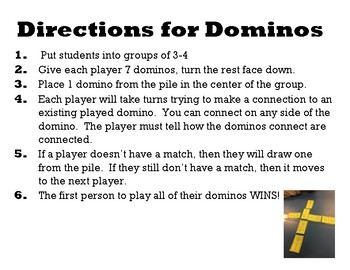 US History Review Dominos 19877-2001