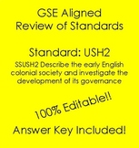 GSE SSUSH2 Editable Study Guide Review- English Colonial Society