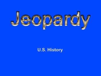U.S. History Review Game