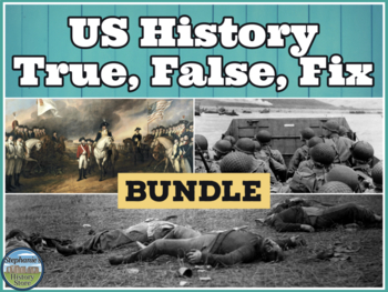 US History Review Game Bundle