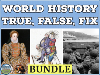 World History Review Game Bundle