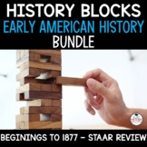 US History Review Game - JENGA BUNDLE - Great for STAAR Review!
